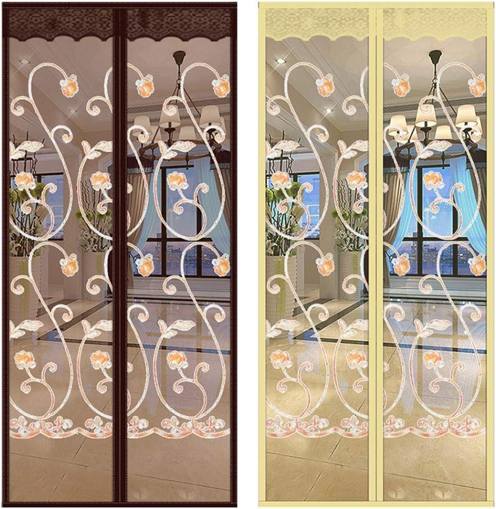 ACDRX Puerta de Pantalla magnética para Puerta corredera de Cristal, Malla de Malla autosellada a Prueba de Fuego, Malla de poliéster con Sello de Marco Completo: Amazon.es: Hogar
