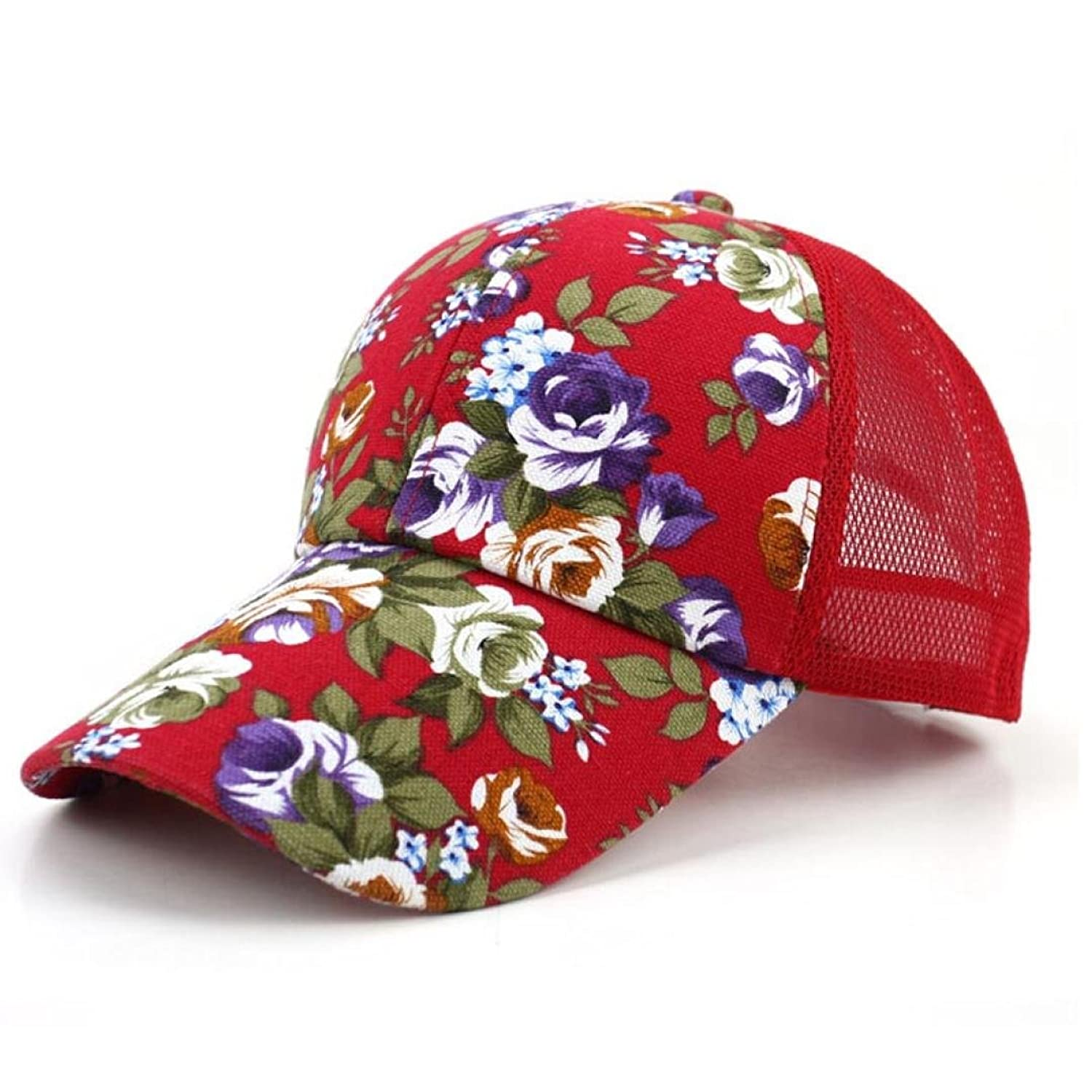 Unisex Baseball Kappe DDLBiz® 1pc Frauen Hut Outdoor Floral Hut Cap Baseball Sonnenhut