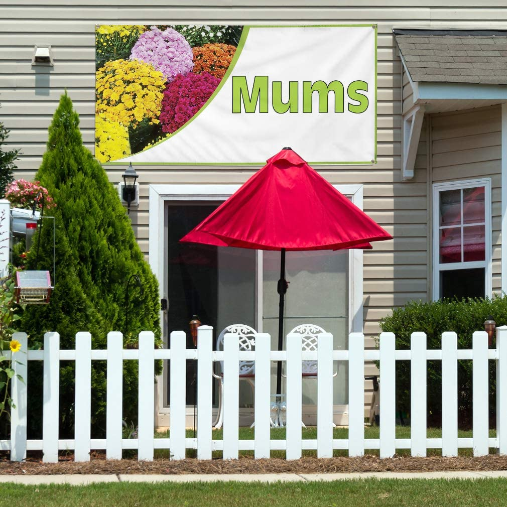 Vinyl Banner Multiple Sizes Mums Business B Business Outdoor Weatherproof Industrial Yard Signs White 8 Grommets 48x96Inches