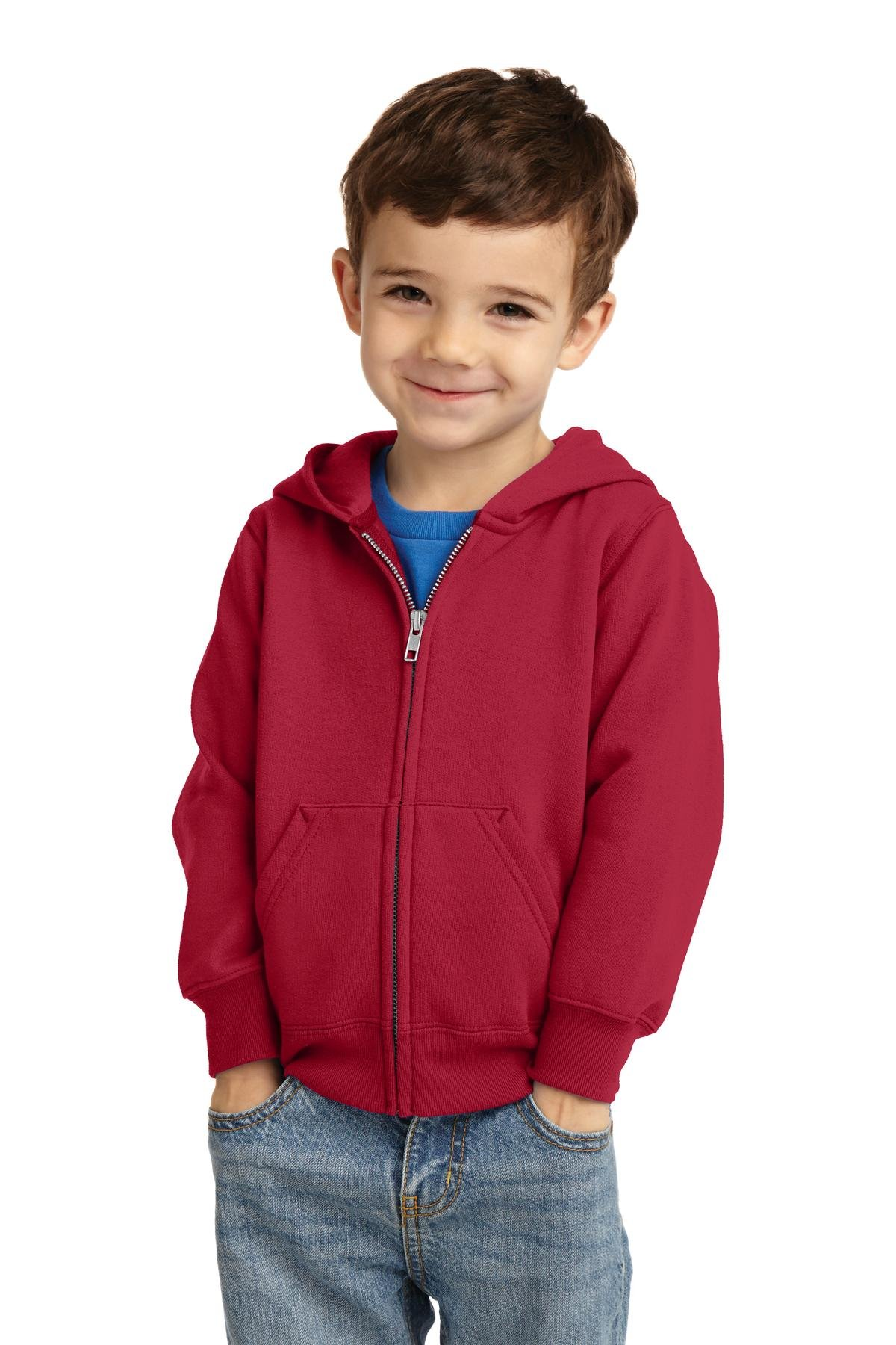Precious Cargo unisex-baby Full Zip Hooded Sweatshirt 3T Red by Precious Cargo