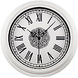 Foxtop 30 cm Orologio da Parete Silenzioso per la Casa della Decorazione della Parete, Stile Moderno Orologio da Parete Bianca