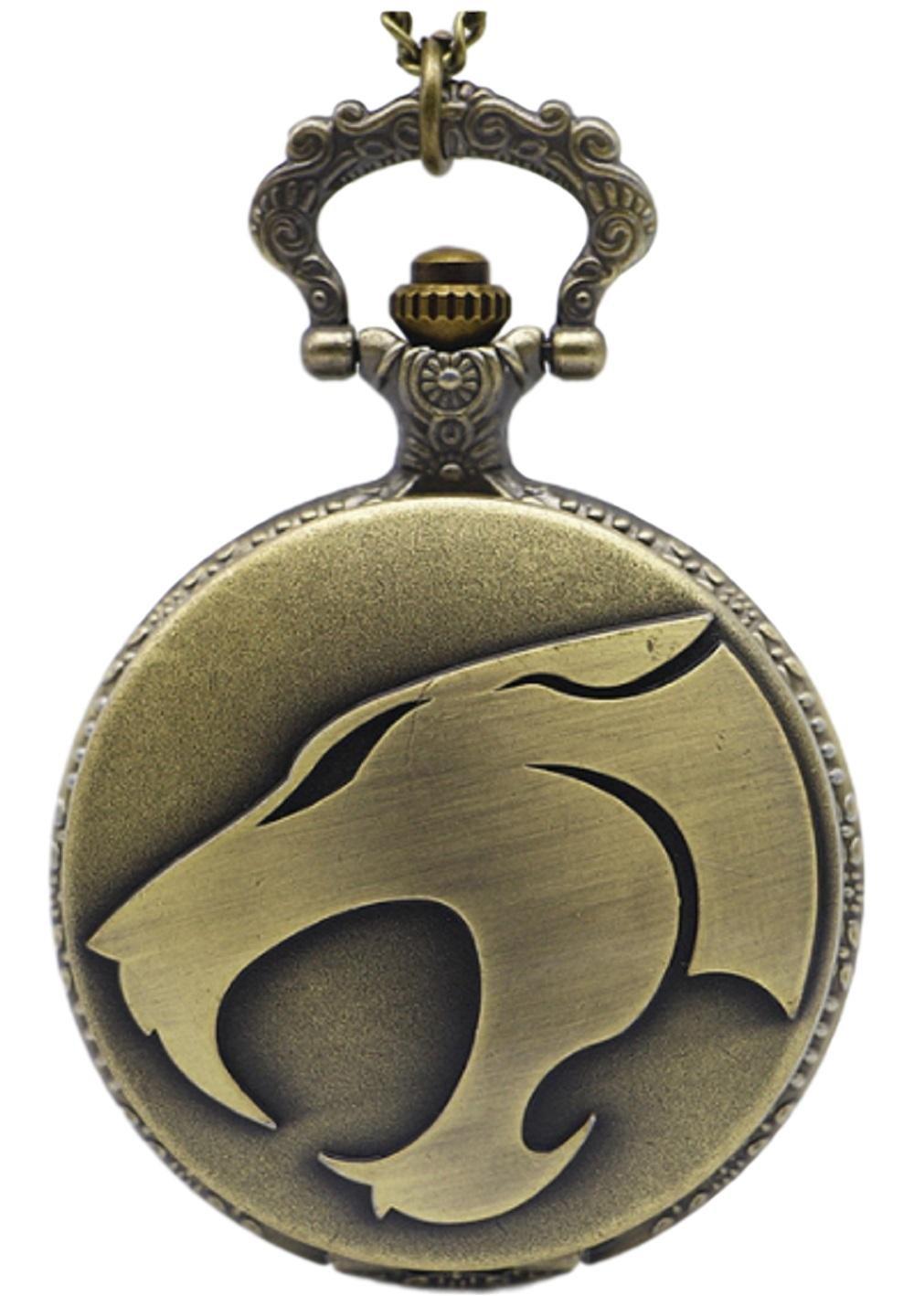 Marvel's ThunderCats Logo Bronze Finish Pendant Pocket Watch