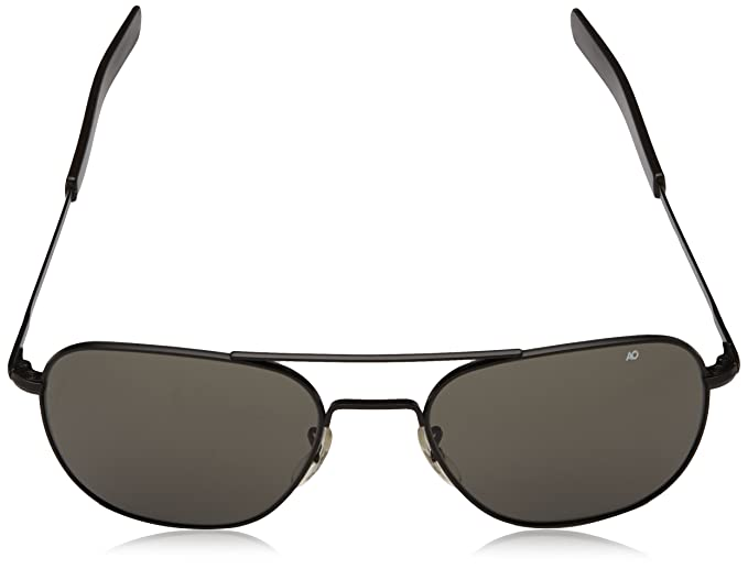 Amazon.com  AO Eyewear Original Pilot 55mm Black Frame with Bayonet Temples  and True Color Grey Glass Lens  Sports   Outdoors 0bb7d642d38