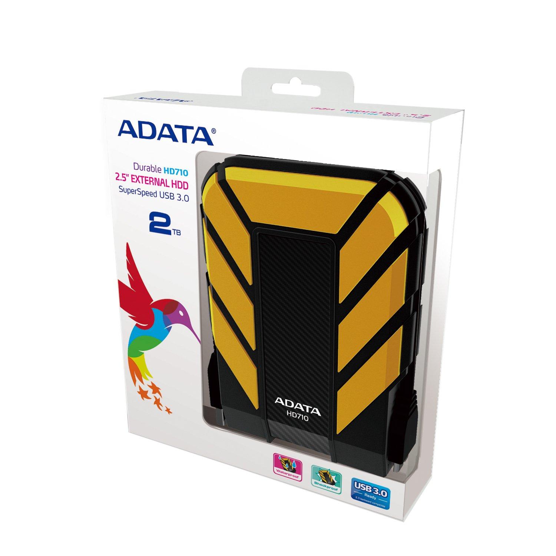 AHD710P-2TU31-CYL YELLOW ADATA HD710 Pro 2TB USB 3.1 IP68 Waterproof//Shockproof//Dustproof Ruggedized External Hard Drive
