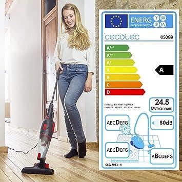 Cecotec Aspirador Vertical Conga EcoExtreme Stick Easy. Aspirador Escoba y de Mano Sin Bolsas, Eficiencia Energética A, Tecnología Ciclónica, Filtro HEPA: Amazon.es: Hogar
