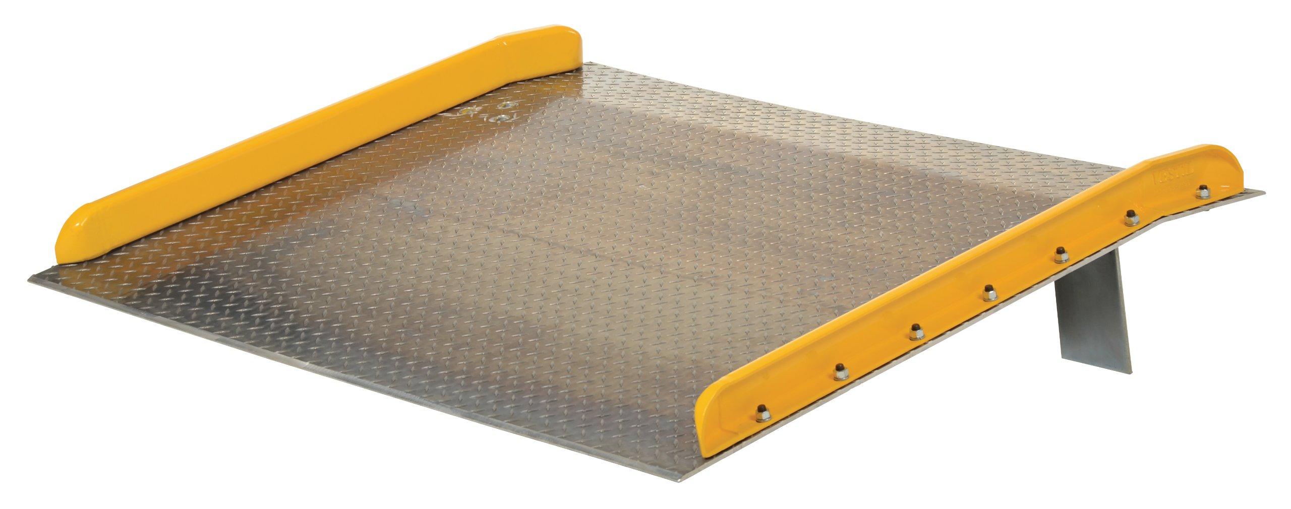Vestil TAS-15-7236 Aluminum Dock Board with Steel Curb, 15000 lb. Capacity, 72'' x 36'', Silver