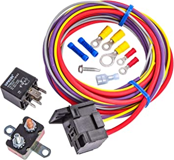 Amazon Com Jegs Single Fuel Pump Harness And Relay Kit 30 Amp Includes 80 Wire Harness 30 Amp Relay 30 Amp Circuit Breaker And Crimp Terminals Hardware Made In Usa Automotive