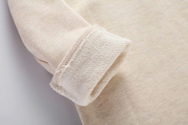 BIBNice Girls Long Sleeve Shirts Kids Cotton Fall Top Crewneck Clothes 2-7T: Clothing
