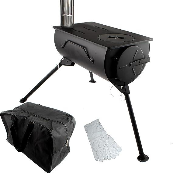 Comfort Portátil Estufa de Leña Calentador de Cocina que Acampa con Bolsa de Transporte