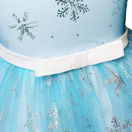 feiXIANG Vestito Natale Neonata Abito di Paillette Stampa Fiocco di Neve Abito Ragazza Eleganti da Cerimonia Abiti Bambina Inverno Vestite Natale Partito Costume Mini Gonna Vita Alta