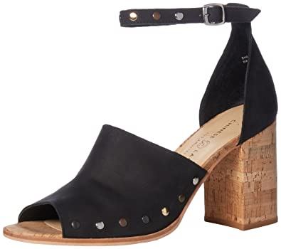 7d916810fa37a Chinese Laundry Women s Savana Heeled Sandal Black Leather 10 ...