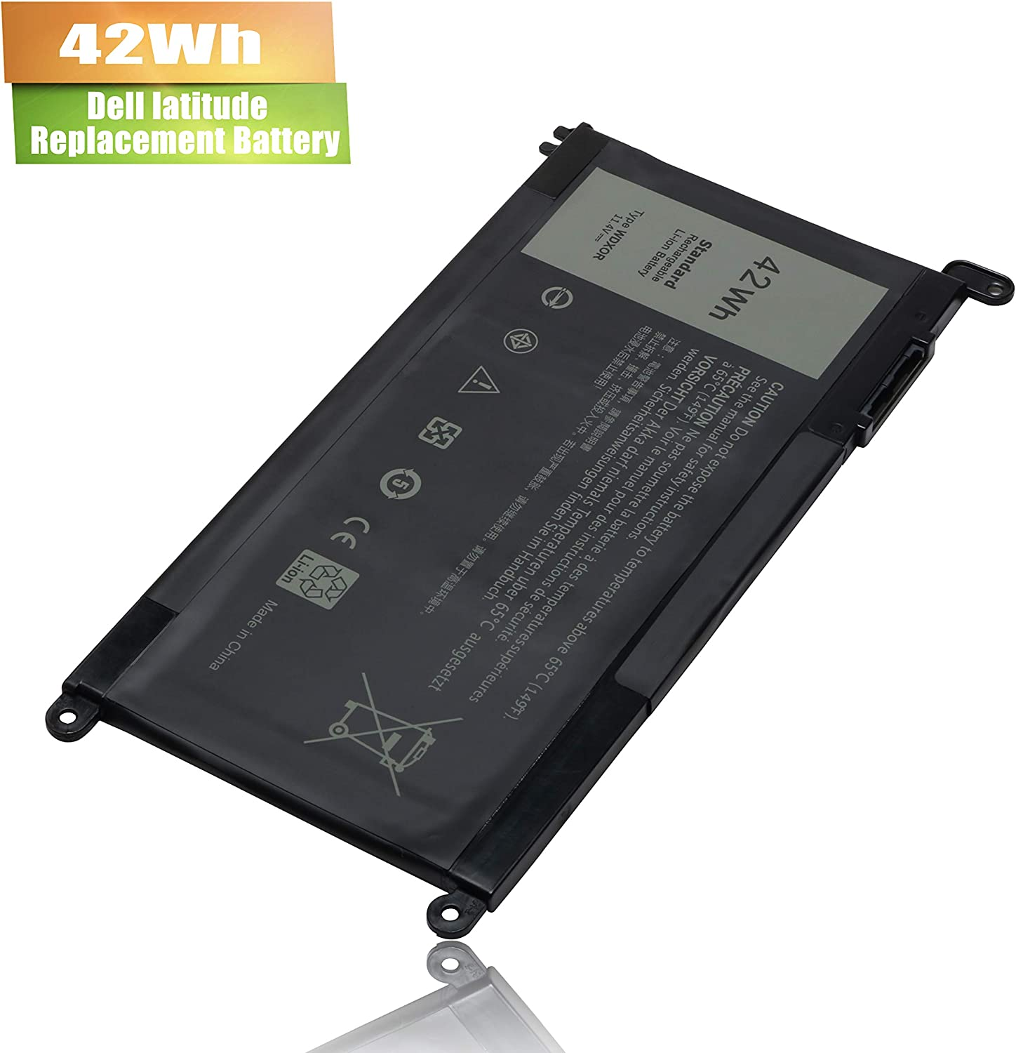 WDX0R Laptop Battery for Dell Inspiron 15 5565 5567 5568 5578 7560 7570 7579 7569 P58F Inspiron 17 5765 5767 Inspiron 13 5368 5378 5379 7368 7378 Inspiron 14-7460 FC92N 3CRH3 T2JX4 CYMGM - 42Wh/11.4V