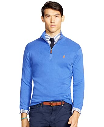 Polo Ralph Lauren Men's Half Zip Pima Sweater (X Large) at