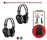 2 Pack of IR Wireless Headphones for Car