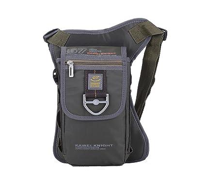 5b5a3c0d29 Kawei Knight Nylon Tactical Leg Bag Fanny Pack Pouch Bag Color Army Green