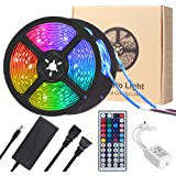 LED Strip Lights, YORMICK 32.8 feet Waterproof Flexible Tape Lights Color Changing 5050 RGB 300 LEDs Light Strips Kit…