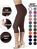 Sejora SATINA High Waisted Ultra Soft Capris Leggings - 20 Colors - Reg & Plus Size