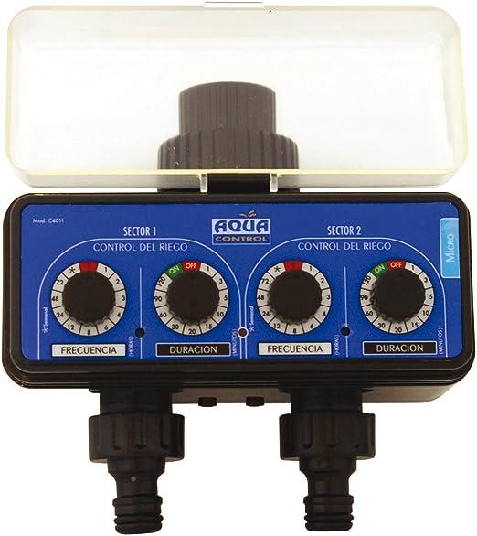 Aqua Control C4011 - Programador de Riego para Jardín - Para todo tipo de Grifos - Con 2 salidas independientes: Amazon.es: Jardín