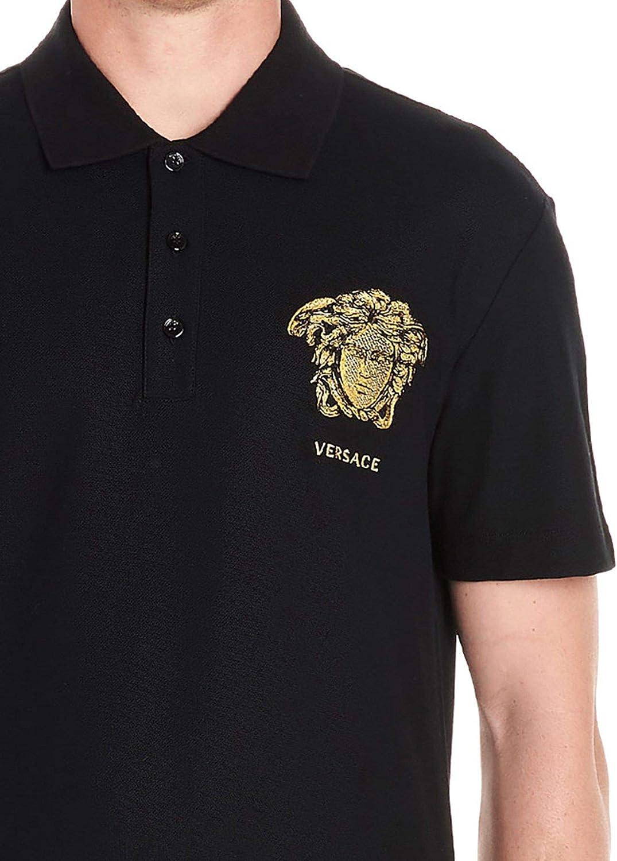 Versace Luxury Fashion Hombre A83572A230671A008 Negro Polo   Otoño ...