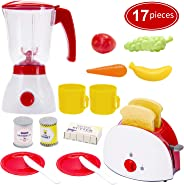 Toy Life Toy Blender and Toy Toaster with Pretend Play Kitchen Accessories for Toddlers Set | Cooking Toy Kitchen Appliances