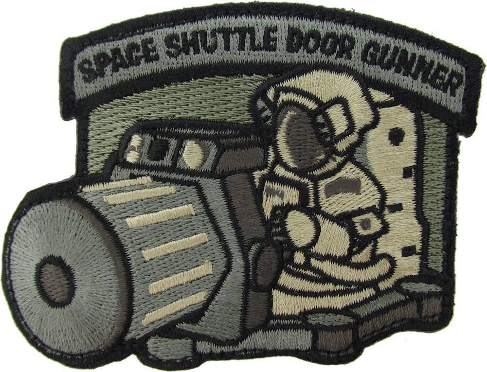 MIL-SPEC Shuttle Door Gunner Patch ACU Mil-Spec Monkey