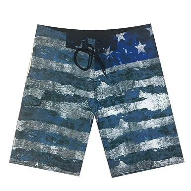 CZD89 Pitbull Flag Patriotic American Flag Swim Trunks Quick Dry Beach Holiday
