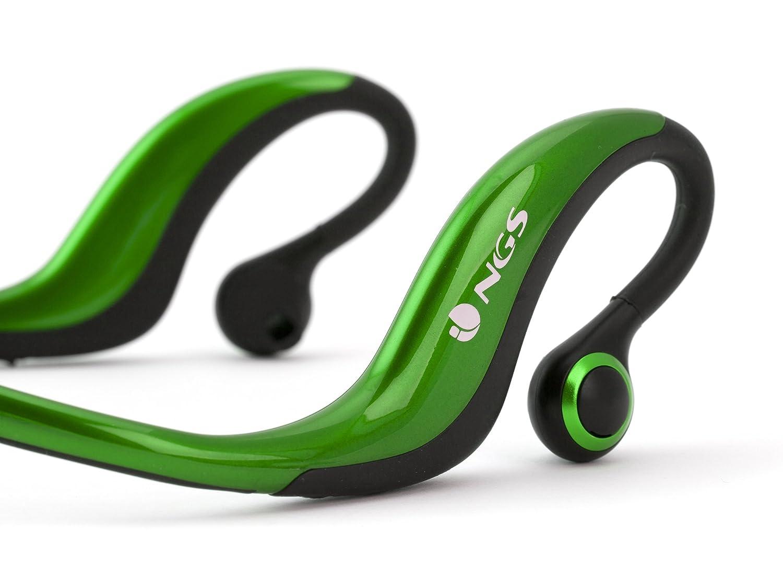 NGS Greensportartica - Auriculares de contorno de cuello, verde: Amazon.es: Electrónica