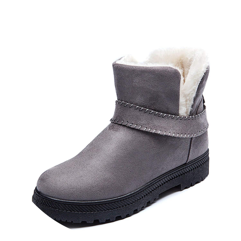 Kingwhisht Women Ankle Boots Flat Casual Snow Boots Plush Warm Peluche  Inside Winter Shoes Woman Botas Mujer  Amazon.ca  Shoes   Handbags 9e675060a3c6