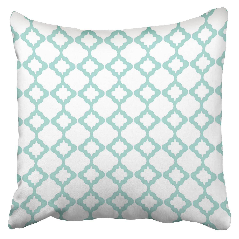 emvency Decor funda de almohada geométrico marroquí enrejado ...