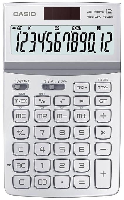 CASIO JW-200TW-WE - Calculadora sobremesa: Amazon.es: Oficina y ...