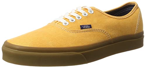 35934fb7b11270 Vans Men s Authentic Lace-Up Low-top Sneakers Yellow ((Washed Canvas)  citrus gum) 6.5 UK  Buy Online at Low Prices in India - Amazon.in