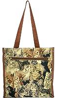Banberry Designs Cat Canvas Travel Tote Shoulder Bag