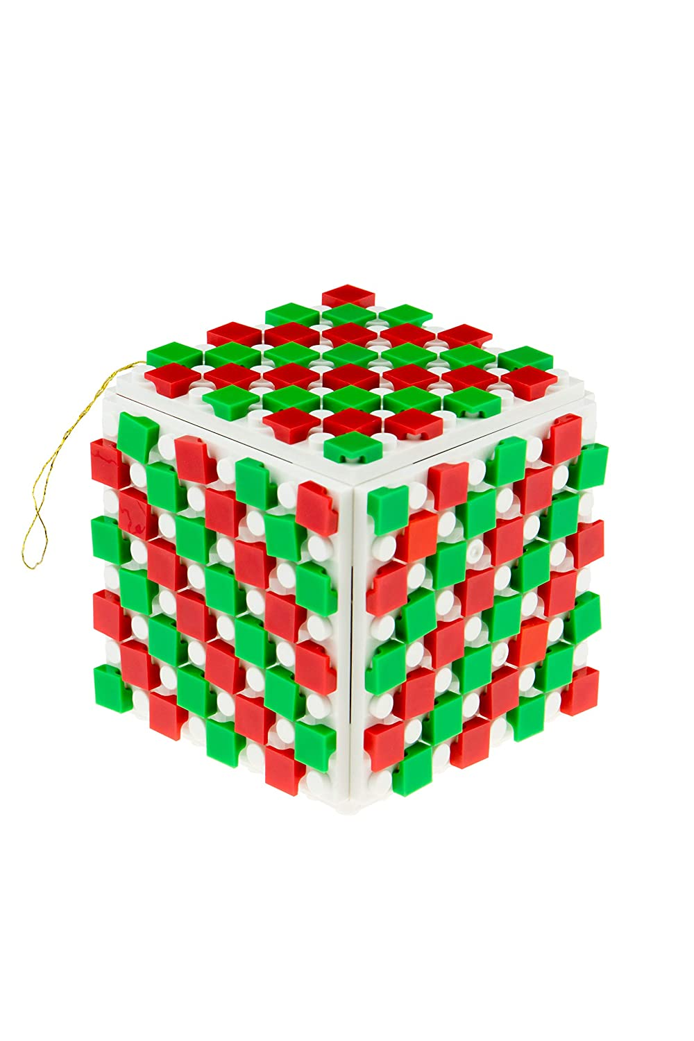 8x8 Baseplates 100/% Compatible with All Major Brands 1x1 Pixels and 3D Briks Strictly Briks Design Your Own Brick Ornament Set for Christmas Tree 164 Pieces Xmas Holiday Decoration STEM Toy