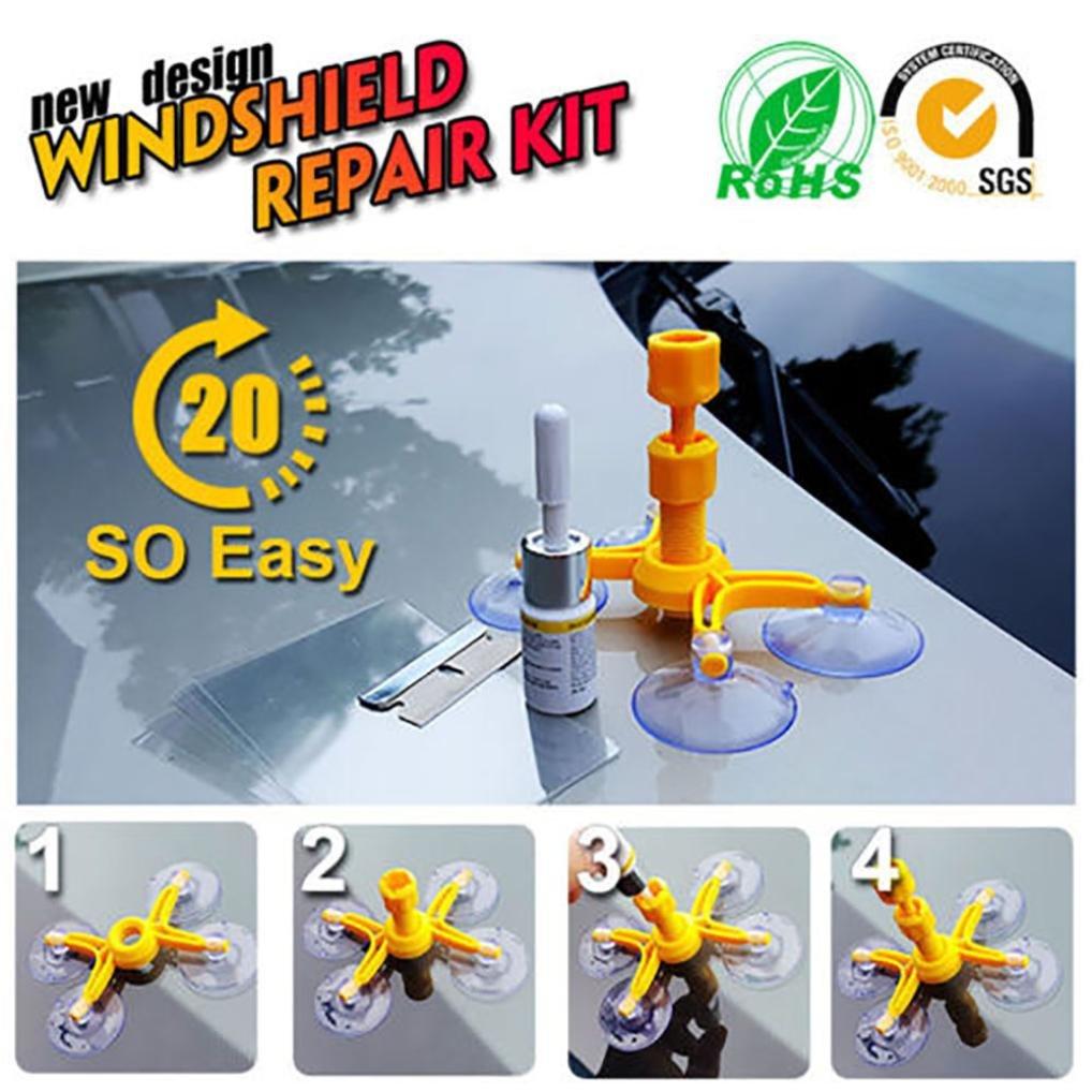 Yeefant 1 Set Windscreen Windshield Repair Tool Set DIY Car Wind Glass Kit For Chip Crack by Yeefant Car Accessories (Image #6)