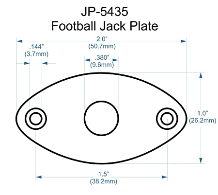 Amazon Com Bangdan Metal Jack Plate Jackplate For Guitars Curved
