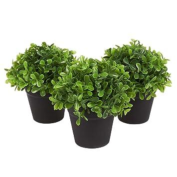 Amazoncom Juvale Fake Plant Decoration Set Of 3 Potted