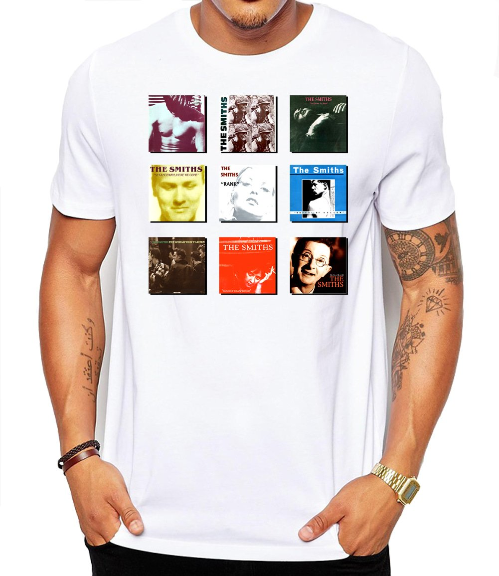 The Smiths Album Collection Unisex Fashion Quality Heavyweight T-Shirt. Human Apparel