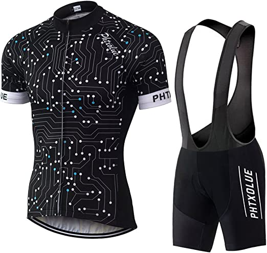 Bike Short Sleeve Cycling Clothing Bicycle Sports Uniform Jersey bib Shorts Sets