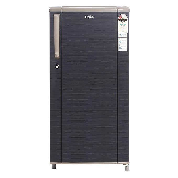 Haier 181 L 2 Star Direct Cool Single Door Refrigerator  HED 1812BKS E, Black Brushline