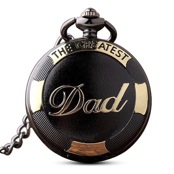 Reloj de bolsillo antiguo Gorben, de cuarzo, para hombre, con caja de regalo