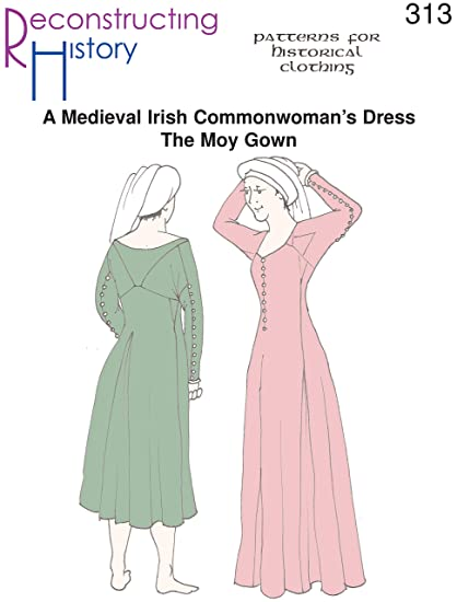amazon com medieval irish moy gown pattern arts crafts sewing