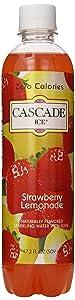 Cascade Ice Sparkling Water, Strawberry Lemonade, 17.2 Fl Oz (Pack of 12)