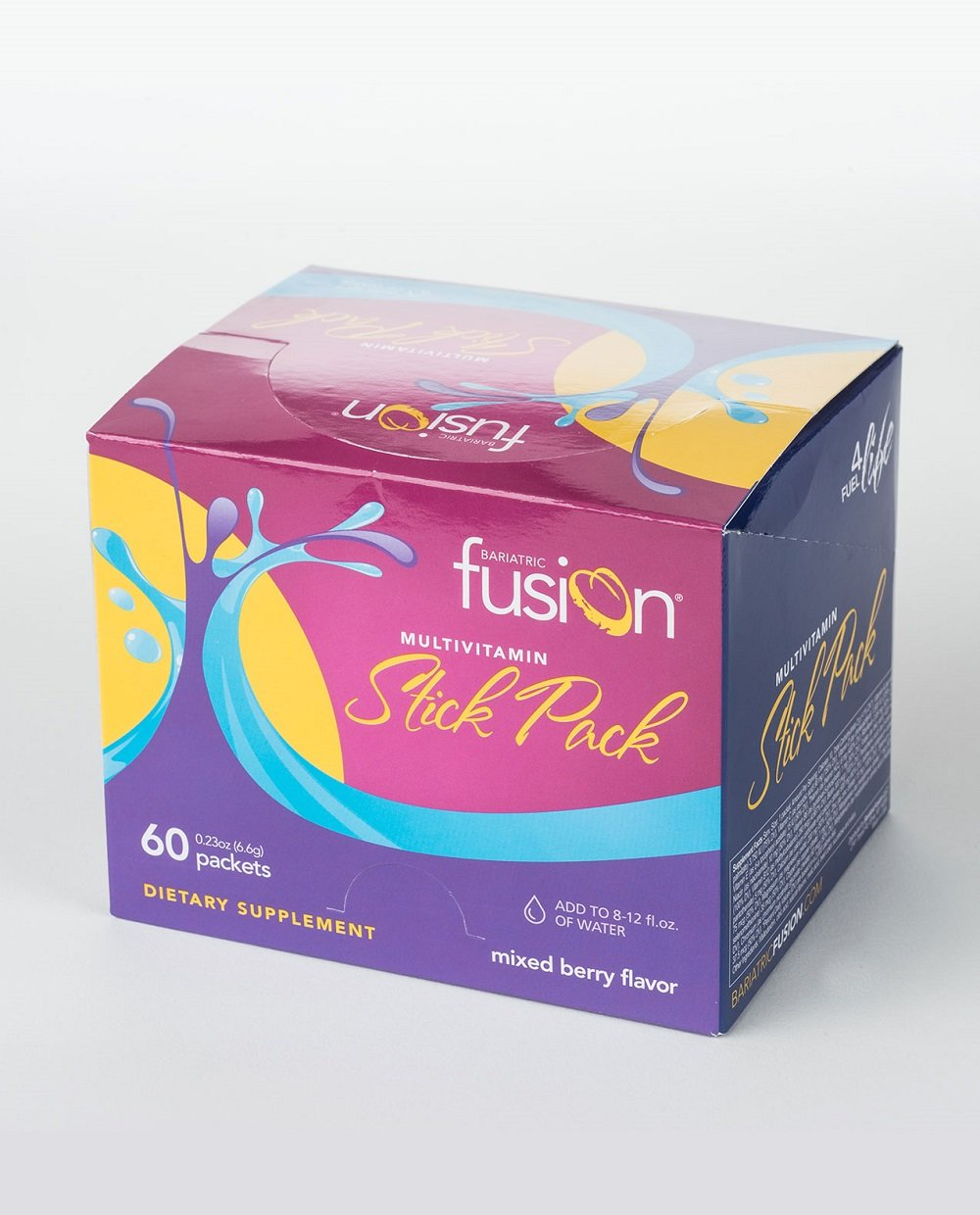 Bariatric Fusion Multivitamin & Mineral Stick Packs Mixed Berry for Gastric Bypass and Sleeve Gastrectomy