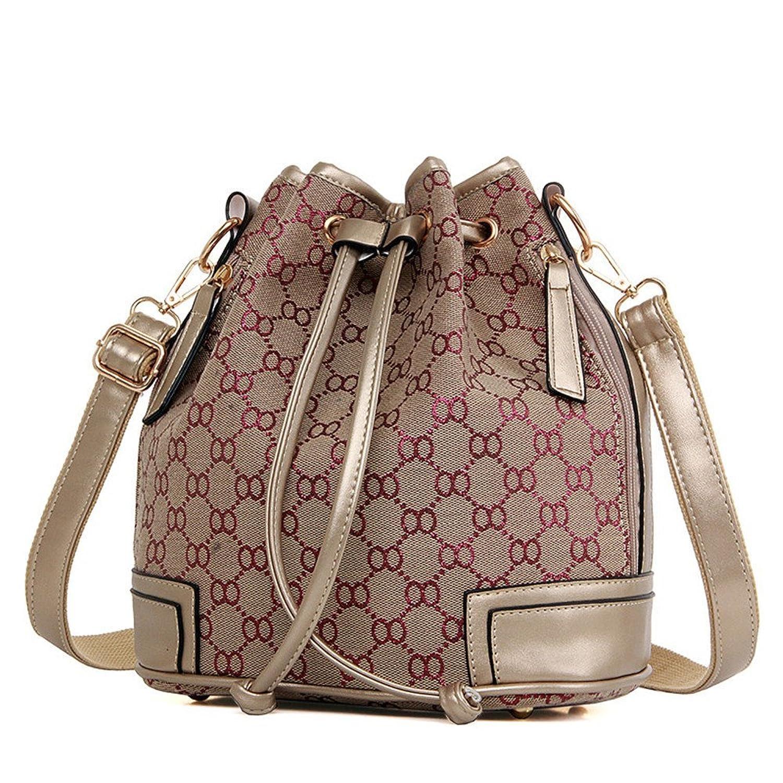 Ceyue Women's Drawstring Handbag Bucket Bags Shoulder Backpack