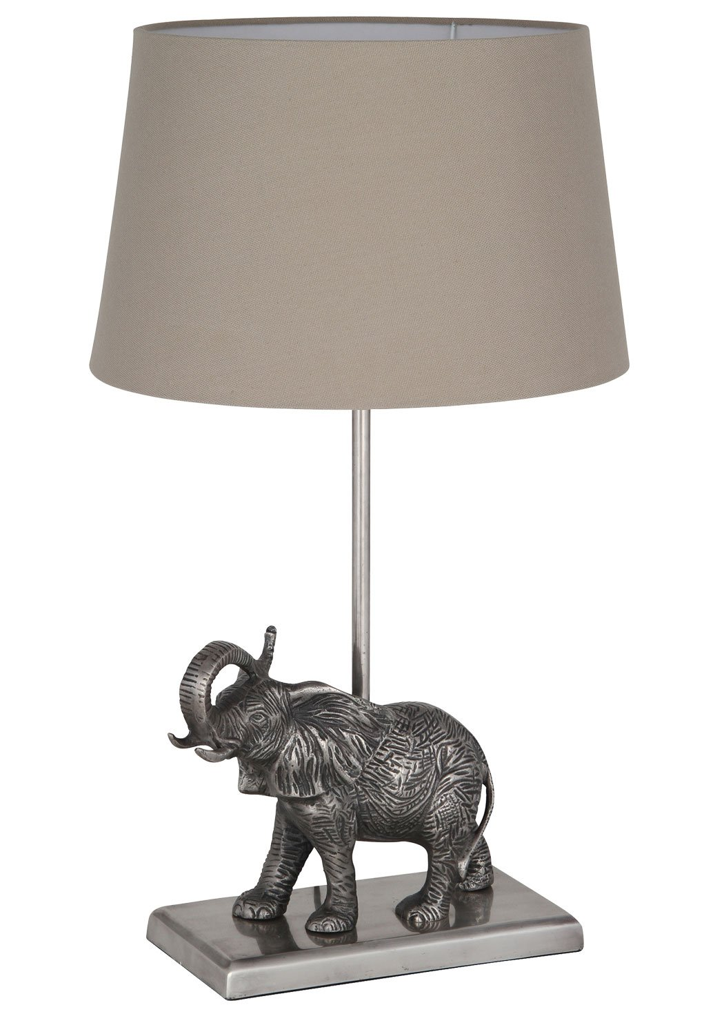 Elephant table lamp antique silver amazon electronics geotapseo Gallery