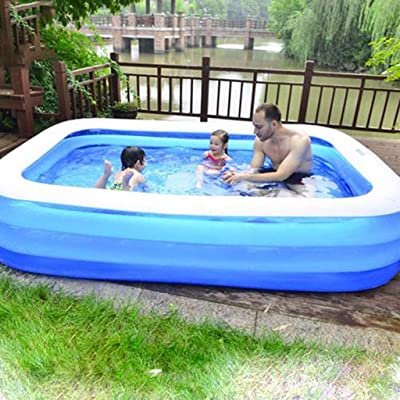 Inflatable Swimming Pools, Inflatable Kiddie Pools, Family Swimming Pool, Swim Center for Kids, Babies, Adults,Toddlers, Outdoor, Garden, Backyard (61.02x42.52x18.11in): Garden & Outdoor