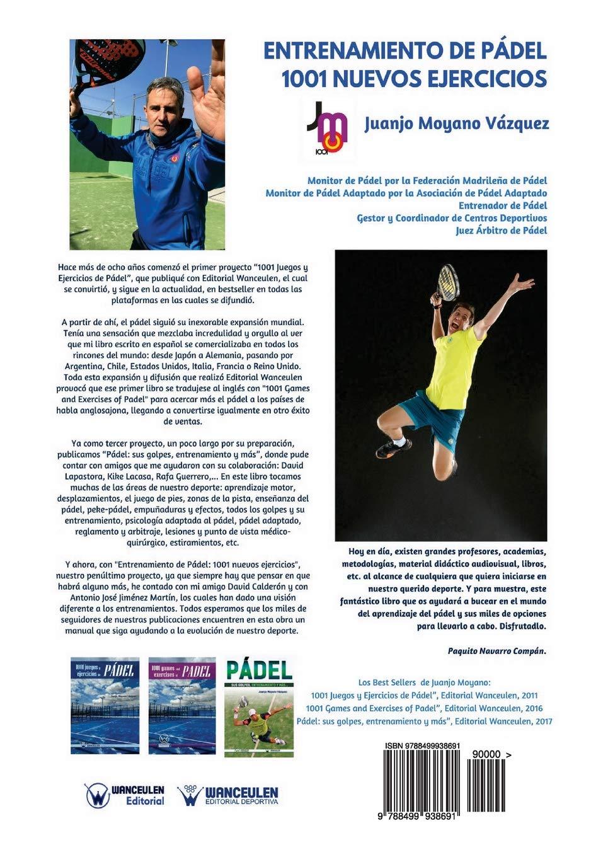 Entrenamiento de Pádel: 1001 nuevos ejercicios (Spanish Edition): Juanjo Moyano Vázquez: 9788499938691: Amazon.com: Books