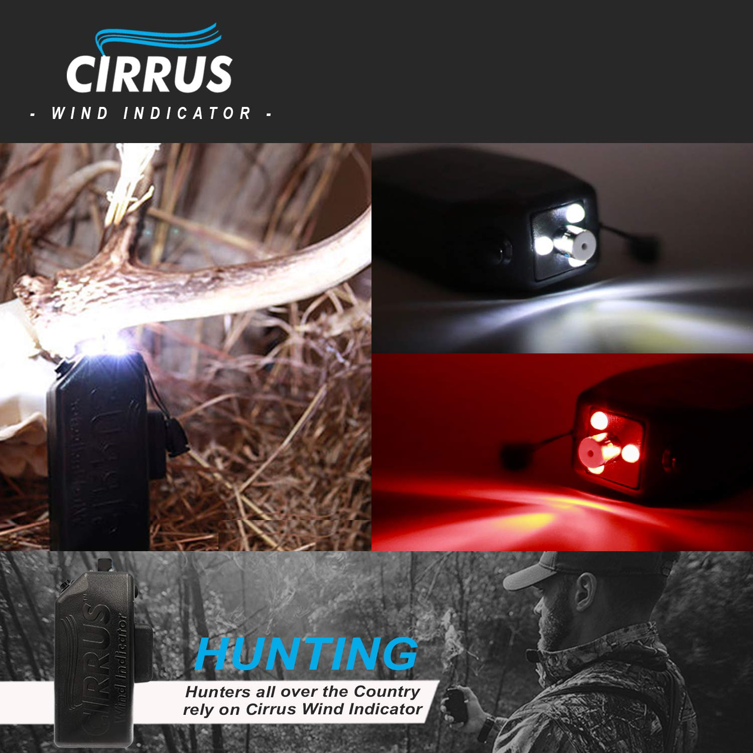 Cirrus Wind Indicator for Hunting - The Perfect Wind Checker Alternative to Messy Powder by Cirrus (Image #5)
