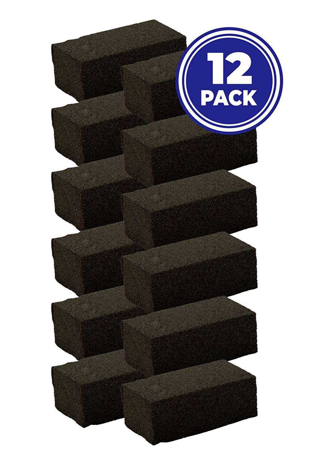 Pack of 4 Grill Bricks 4 NVM Trading Cleans Grills Effectively with No Chemicals Commercial Restaurant Grade Pumice Stone Barbecue Grill and Griddle Scraper Blocks