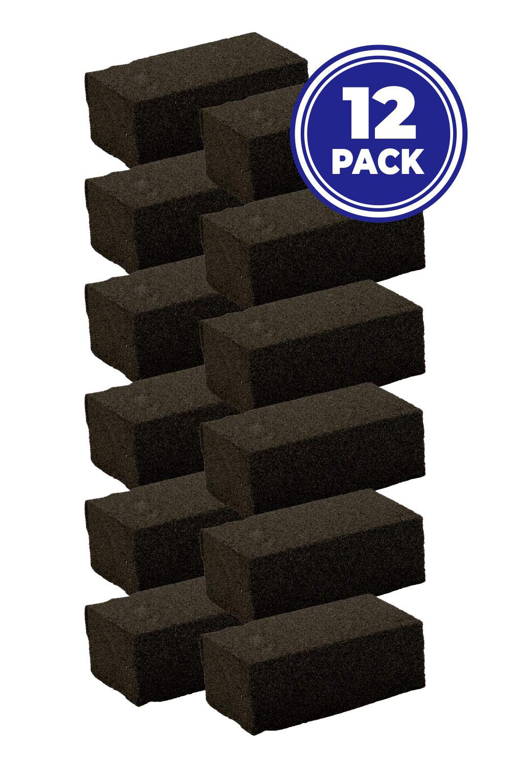 NVM Trading - Pack of 12 Grill Bricks, Commercial Restaurant Grade Pumice Stone Barbecue Grill and Griddle Scraper Blocks, Cleans Grills Effectively with No Chemicals (12) by NVM Trading